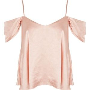 Satin Blush Cold Shoulder Camisole Size US 10 NWT